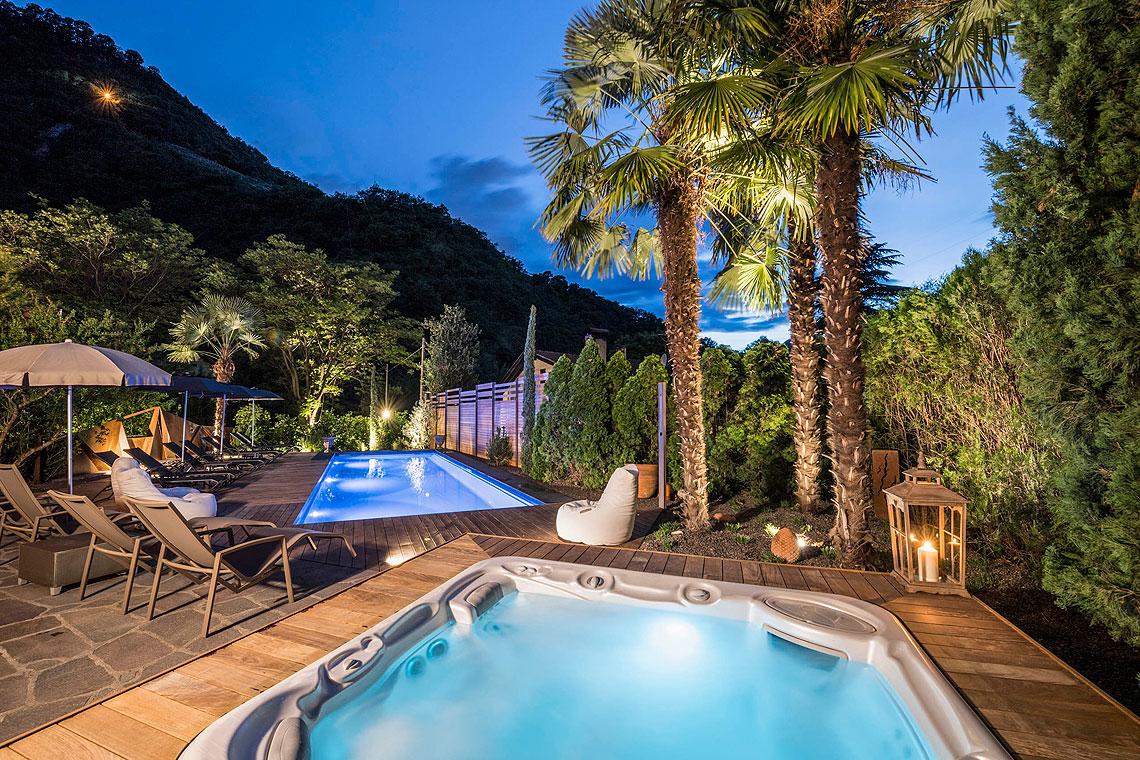 Piscina e sauna for Bozen boutique hotel
